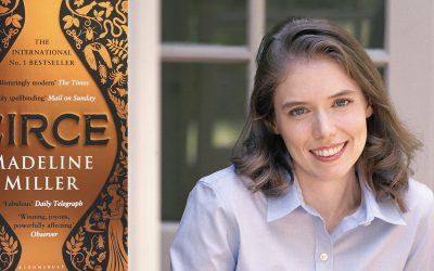 Photo of Madeline Miller and her novel Circe