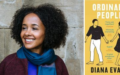 Photo of Diana Evans and her novel Ordinary People