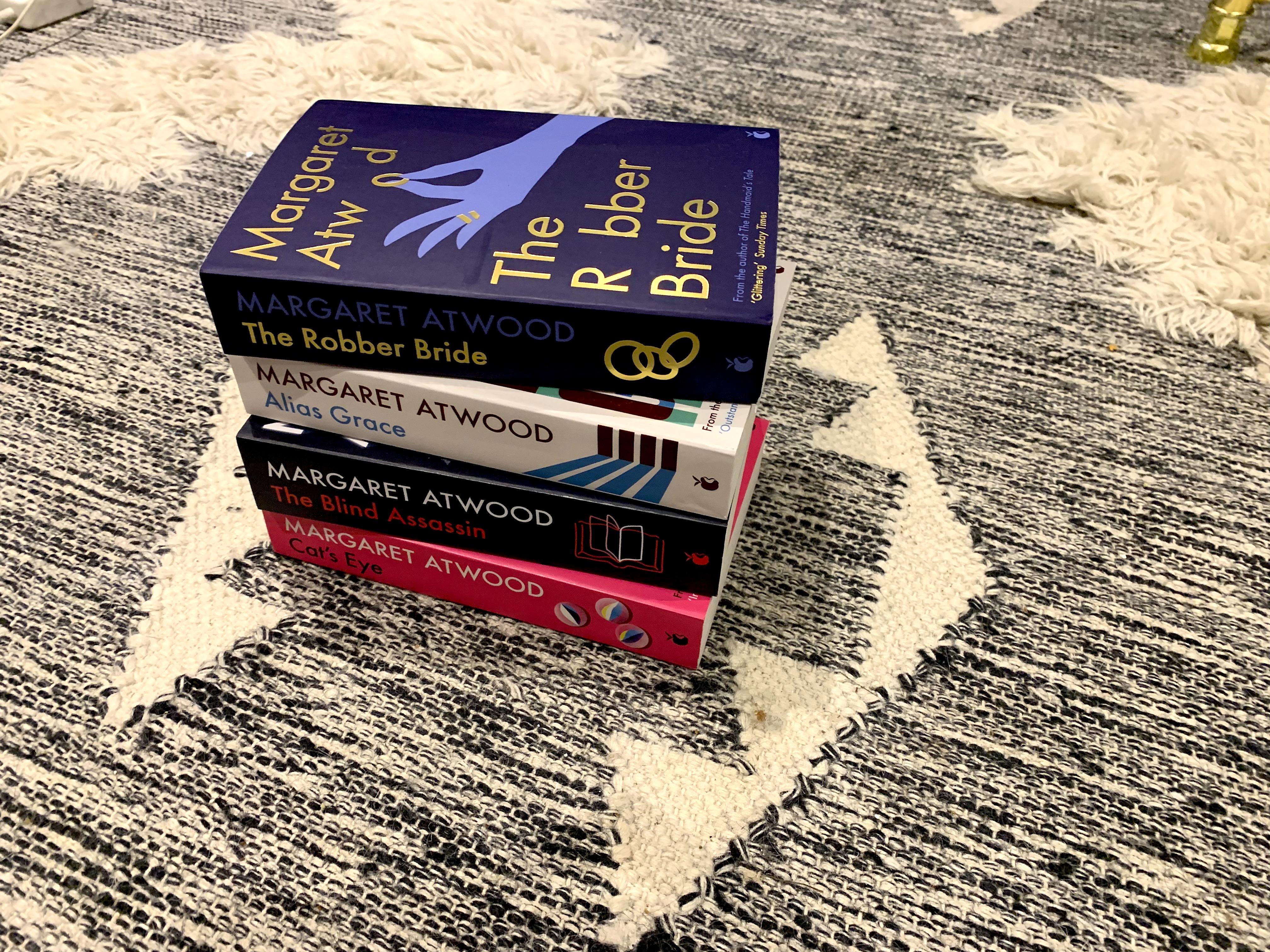Photo of Margaret Atwood books