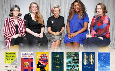 Photo of the 2020 judges and Women's Prize for Fiction shortlist