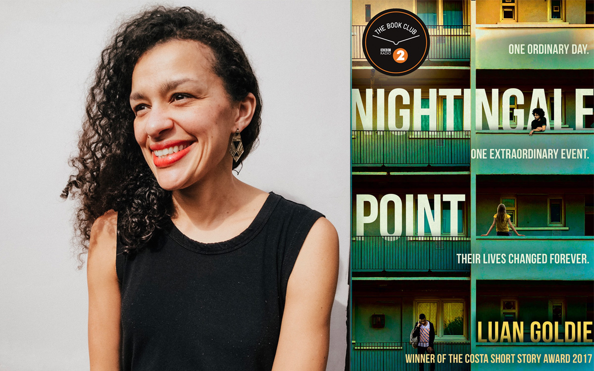Photo of Luan Goldie and her novel Nightingale Point