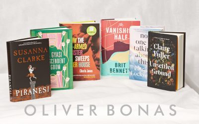 Photo of Oliver Bonas branding with the Women's Prize 2021 shortlist