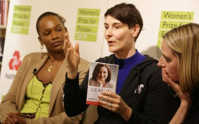 Photo of Sarah Wood at a Women's Prize Trust event