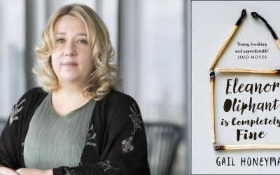 Photo of Gail Honeyman and her novel Eleanor Oliphant is Completely Fine