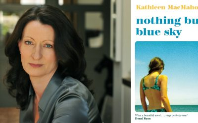 Photo of Kathleen MacMahon and her novel Nothing But Blue Sky