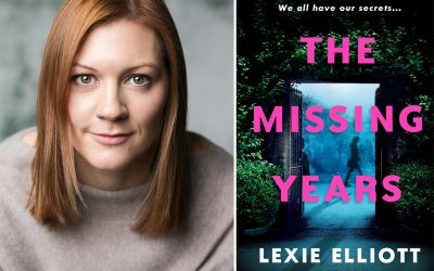 Photo of author Lexie Elliott and her novel The Missing Years