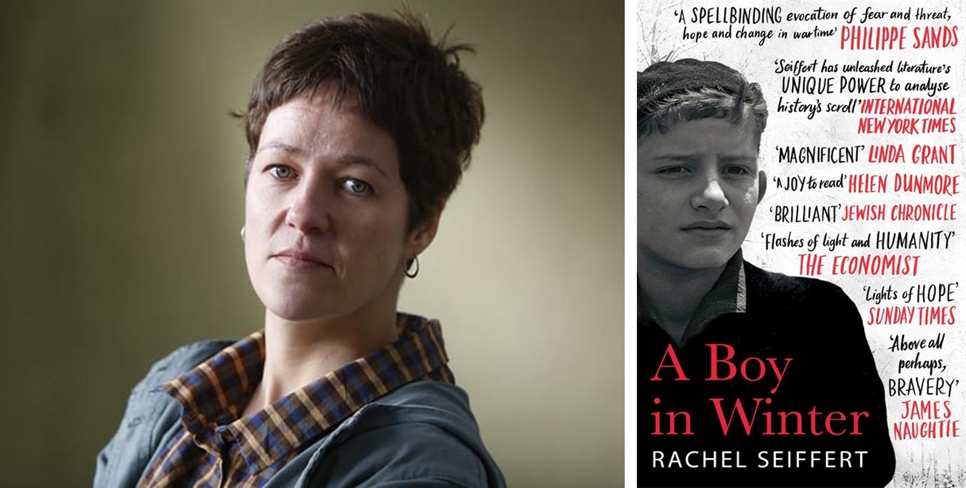 Photo of Rachel Seiffert and her novel A Boy in Winter
