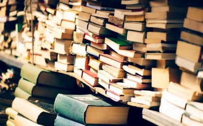 Photo of piled up books